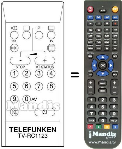 Replacement remote control A 310 M