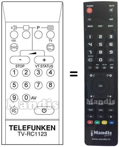 Replacement remote control FS 530 V