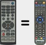 Replacement remote control for RM-1500