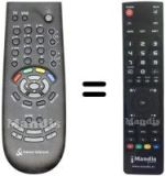 Replacement remote control FRANCE TELECOM LIVEBOX
