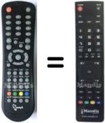 Replacement remote control Sweyk SW19P HD