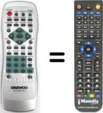 Replacement remote control NIKENNY REMCON621