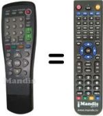 Replacement remote control Asci SEC0540