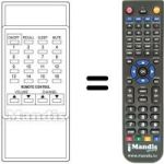 Replacement remote control Supertech TVP 002