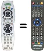 Replacement remote control NOOS DIGITAL BOX