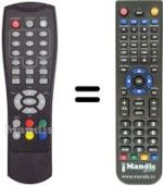 Replacement remote control TECHNOIT DT VISION
