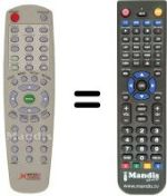 Replacement remote control MECOTEK MK-X 4000