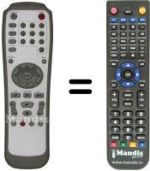 Replacement remote control LITE-ON LVW 5001