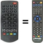 Replacement remote control TELIT SCART MERCURIO