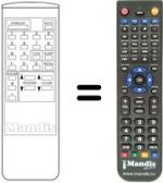Replacement remote control Kamacrown K-3721 N