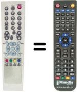 Replacement remote control NEXTVISION 6000 FTA