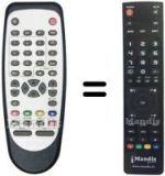 Replacement remote control BUTTERFLY L 5 MTK 6