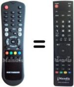 Replacement remote control DIGI HSS 1160 NA