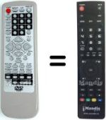 Replacement remote control KENTRON DVD 868