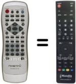 Replacement remote control NIKENNY DVD-S 151 S