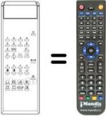 Replacement remote control TV Star ET5101