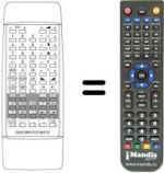 Replacement remote control MADISON TC69770