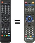Replacement remote control Golden Media 9080 HD