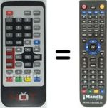 Replacement remote control NOT ONLY TV SCARTDVB-TREC3