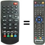 Replacement remote control NOT ONLY TV LV6TZAP3
