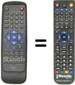 Replacement remote control MARVEL LOUIS DVD-DX750