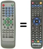 Replacement remote control MARVEL LOUIS DVD-JH353